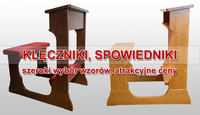 Klęczniki, spowiedniki - wykonane z drewna dębowego